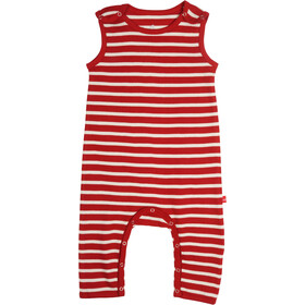 Elkline Beachbaby Overall Kinder chilipepperred-white